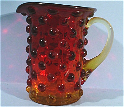 Blown Glass Hobnail Creamer Sized Pitcher (Image1)