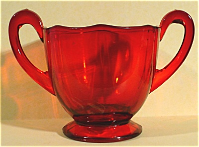 Royal Ruby Sugar Bowl
