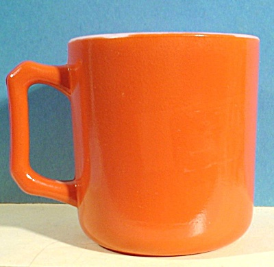 Hazel Atlas Orange Mug