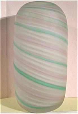 Large Satin Swirl Art Glass Vase (Image1)