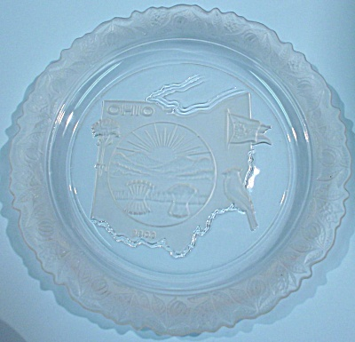 1971 Fostoria Ohio Souvenir Plate (Image1)