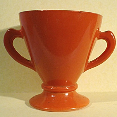 Hazel-Atlas Ovide Pattern Two Handled Open Sugar Bowl (Image1)