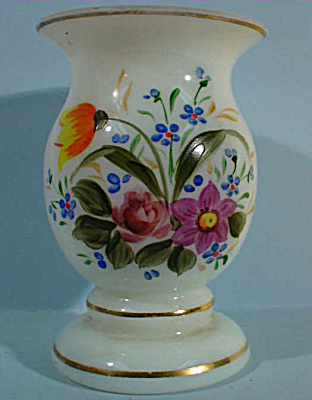 Vintage Miniature Czechoslovakia Glass Vase