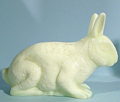 Pale Green Opaque Glass Rabbit (Image1)