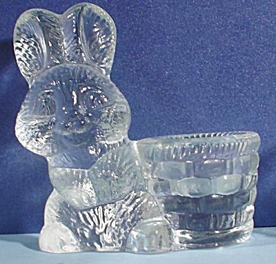 Dept 56 Glass Bunny Rabbit Candle Holder (Image1)
