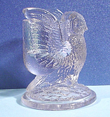 Westmoreland Glass Owl Toothpick Holder