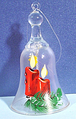 Christmas Glass Bell, Handpainted
