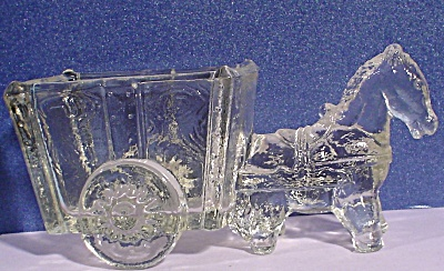 Old Glass Horse And Cart