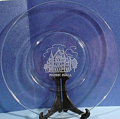 Glass Music Hall Plate (Image1)