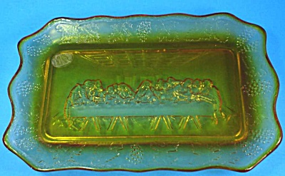 Tiara Amber Glass Last Supper Plate (Image1)