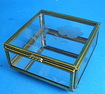Brass and Glass Trinket Display Box (Image1)