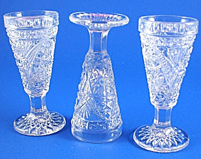 Three Pretty Little Cordial Glasses