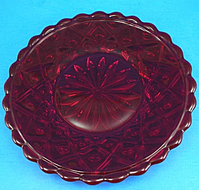 Red Glass Plate (Image1)