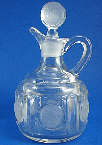 Fostoria Glass Coin Pattern Cruet (Image1)
