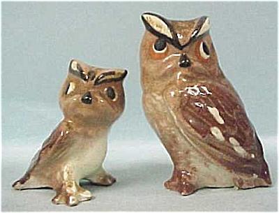 Hagen-Renaker 1950s Miniature Owl and Baby (Image1)