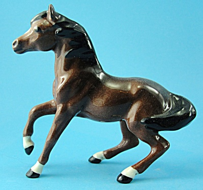 Hagen-renaker Miniature Balking Mare, Gloss Bay