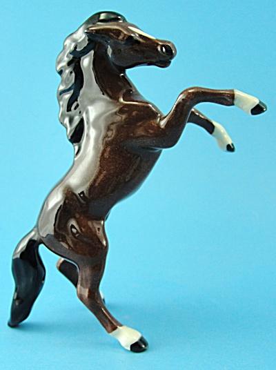 Hagen-Renaker Miniature Rearing Horse Gloss Bay (Image1)