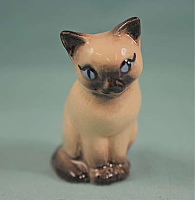 Hagen-renaker Miniature Early Sitting Siamese Cat