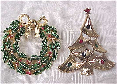 Christmas Wreath & Tree Pins (Image1)