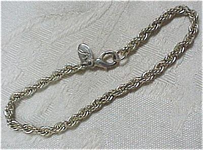Signed ML Silvertone Bracelet (Image1)