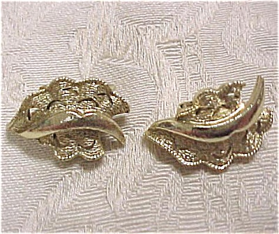 Signed Coro Clip Earrings