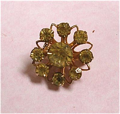 Coro Yellow Rhinestone Pin (Image1)