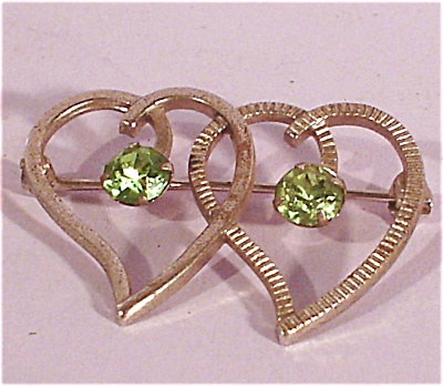 Van Dell Sterling Double Heart Pin (Image1)