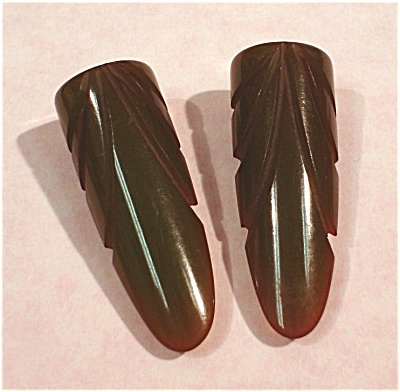 Green Bakelite Dress Clip Pair (Image1)