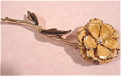 Coro Enameled Flower Pin