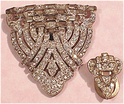 Rhinestone Dress Clip Pair
