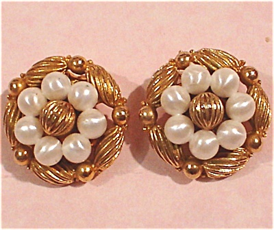 Coro Clip Earrings