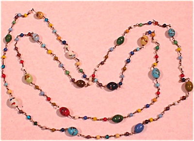 Old Glass Bead Necklace (Image1)