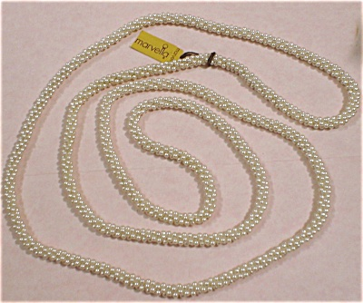 Marvella Faux Pearl Necklace With Hang Tag