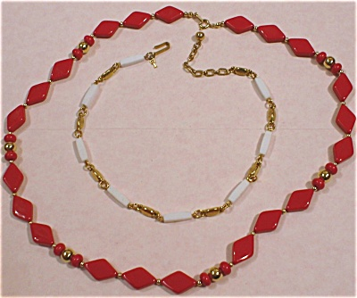 Trifari Necklace Pair