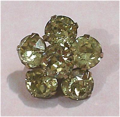 Small Pale Yellow Rhinestone Pin (Image1)