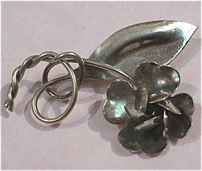Sterling Silver Flower Pin