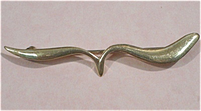 Sterling Silver Bar Pin, Marked Mary Kay 25th