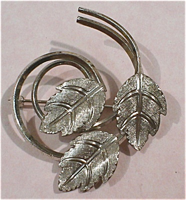 Van Dell Sterling Silver Leaf Pin