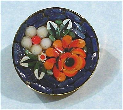 Italian Micro Mosaic Flower Pin (Image1)