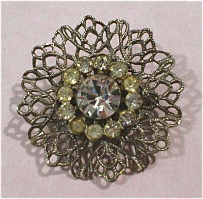 Unmarked Rhinestone Pin (Image1)