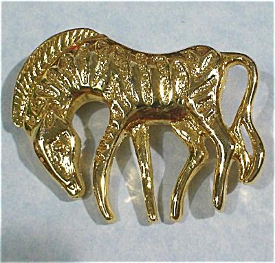 Unmarked Zebra Pin (Image1)