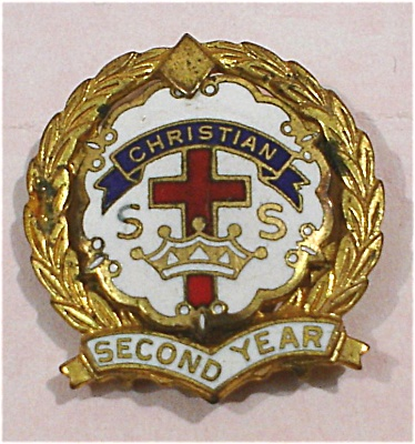 Christian Ss Second Year Lapel Pin