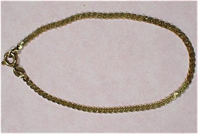 Sterling Silver Gold Vermeil Italian Bracelet (Image1)