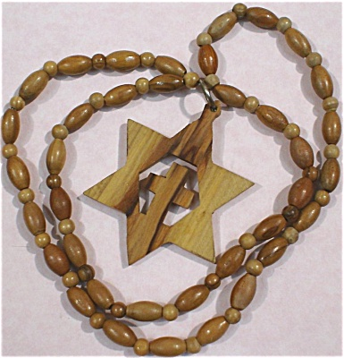 Wood Star / Cross Necklace (Image1)