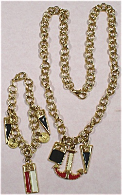 Unmarked Nautical Necklace and Bracelet Set (Image1)