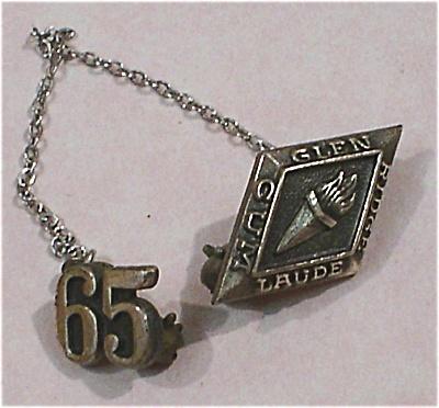 1965 Glen Ridge Cum Laude Sterling Silver Pin (Image1)