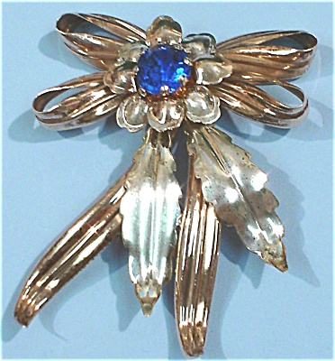 Sterling Silver and Copper Pin (Image1)
