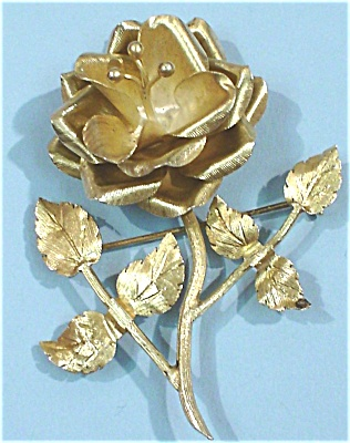Sterling Silver Mexican Rose Pin (Image1)
