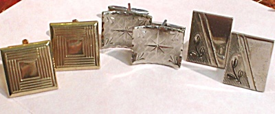 Three Pair Of Cufflinks
