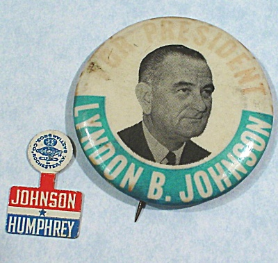 Johnson Political Pinback Button and Pocket Marker (Image1)